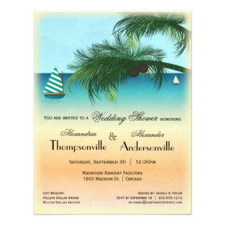 Retro Inspired Serene Beach Scene Invite