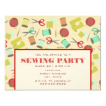 Retro Inspired Sewing Party Invitation
