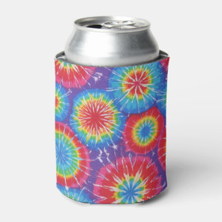 Retro-Inspired Tie Dye Can Cooler