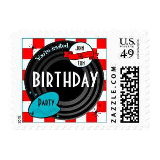 Retro Inspired Vinyl Album Custom Postage Stamp