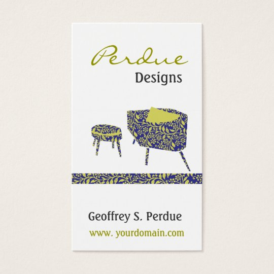Retro Interior Design Home Decor Retro Friendly Business Card