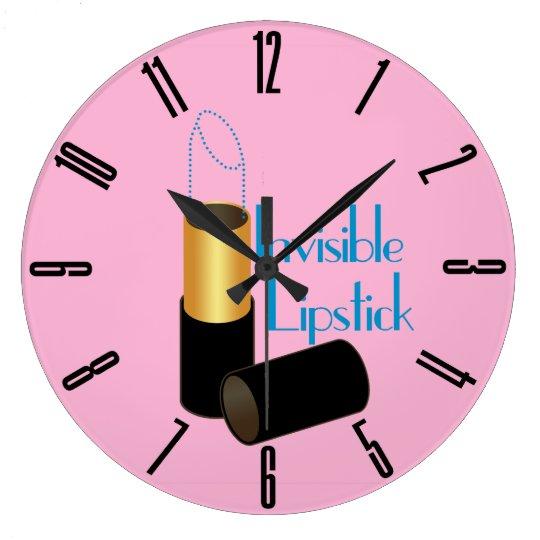 Retro Invisible Lipstick Large Clock