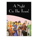Retro Invitations Night On The Town Bachelorette