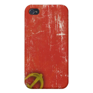 Retro iPhone Skin with Dirty Old Soviet Union Flag iPhone 4 Cover