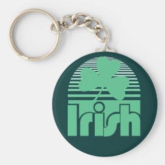 Retro Irish Basic Round Button Keychain