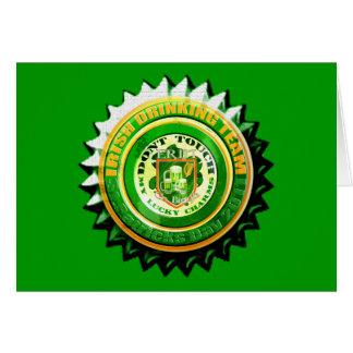 Retro Irish Drinking Team St Patricks Day 2011 Card