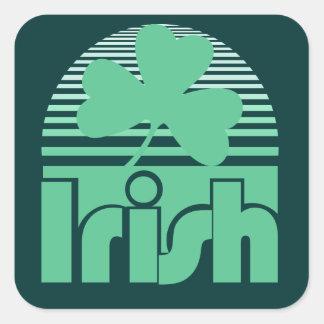 Retro Irish Square Sticker