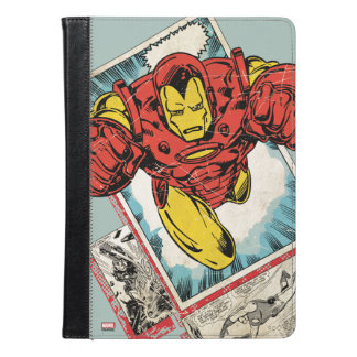 Retro Iron Man Flying Out Of Comic iPad Air Case