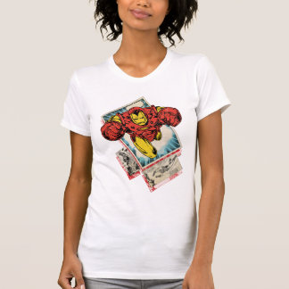 Retro Iron Man Flying Out Of Comic T-Shirt