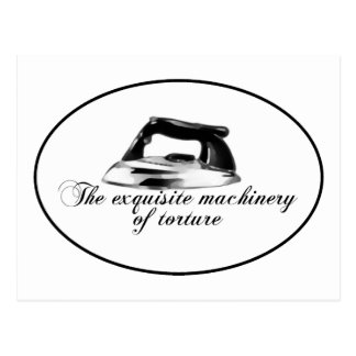 Retro Iron - The Exquisite Machinery Of Torture Postcard