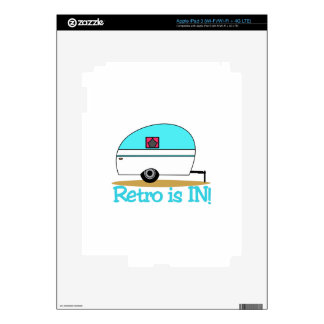 Retro Is In Decal For iPad 3