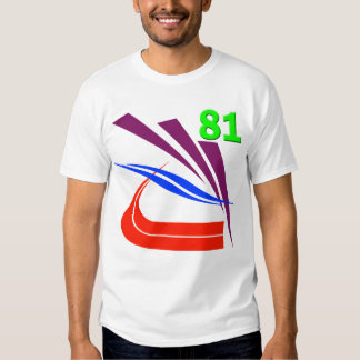 RETRO ISOMETRIC NUMBER 81 T SHIRT