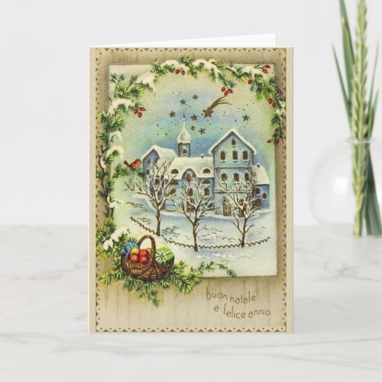 Retro italian christmas and new year card zazzle retro italian christmas and new year card m4hsunfo