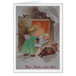 Retro Italian Christmas and New Year Greeting Card