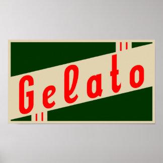 retro italian gelato poster