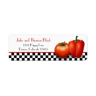 Retro Italian Kitchen Cooking Return Address Return Address Label