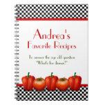 Retro Italian Kitchen Personalized Recipe Notebook