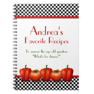 Retro Italian Kitchen Personalized Recipe Notebook