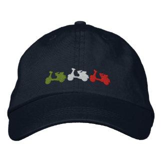 Retro Italian scooter embroidered baseball cap