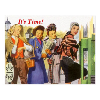 Retro It'sTime! Appointment Reminder Postcard