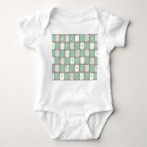 Retro Jade Starbursts Baby Bodysuit