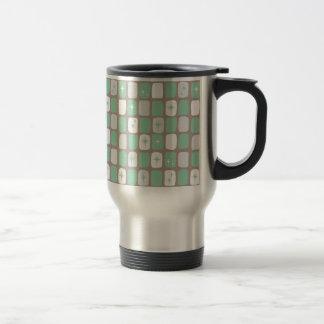 Retro Jade Starbursts Stainless Steel Travel Mug