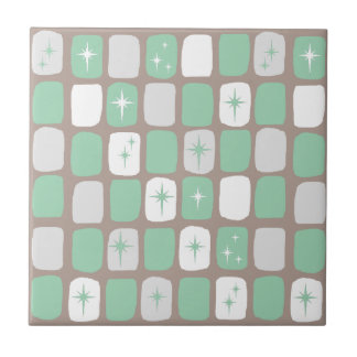 Retro Jade Starbursts Tile