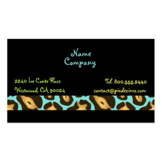 Retro Jaguar Skin pattern profile cards Business Card Template