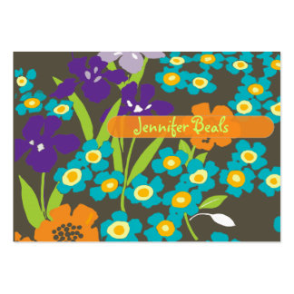 Retro Japanese Iris Business Card