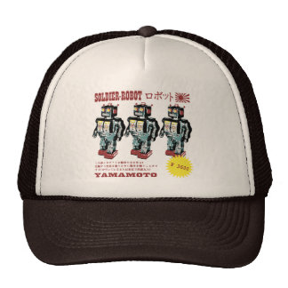 Retro Japanese Toy Robot Advertisement Mesh Hat