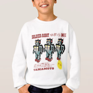 Retro Japanese Toy Robot Advertisement Sweatshirt