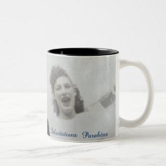 Retro jar congratulations Two-Tone coffee mug