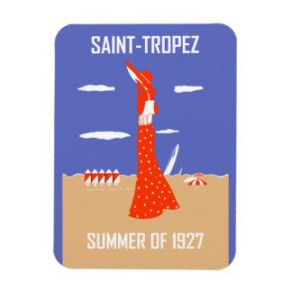 Retro jazz age Saint Tropez Summer beach fashion Magnet