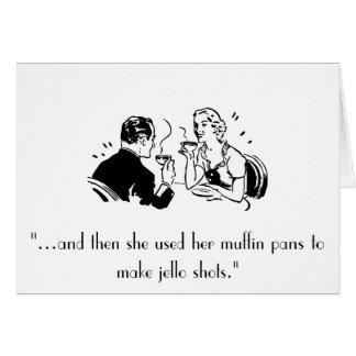 Retro Jello Shots Humor Birthday Card