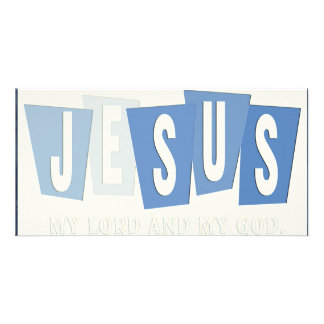 Retro  - Jesus is Lord Personalized Photo Card