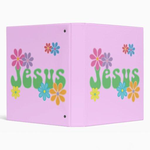 Retro Jesus Vinyl Binders
