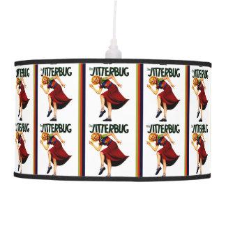 retro jitterbug dance print lamp