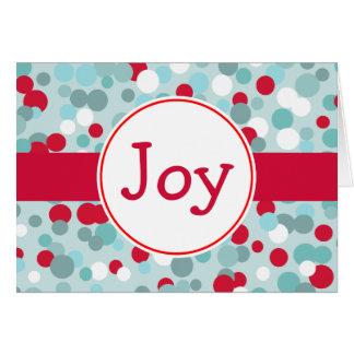 Retro Joy Christmas Card
