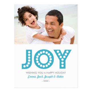 RETRO JOY HOLIDAY PHOTO POST CARD