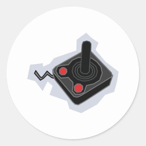 Retro Joystick - Video Games Gamer Gaming PC Classic Round Sticker