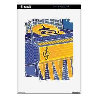 Retro Jukebox Decals For iPad 2