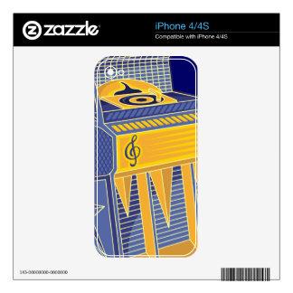 Retro Jukebox Decals For iPhone 4S