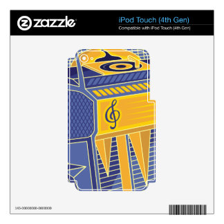Retro Jukebox iPod Touch 4G Decal