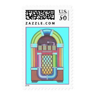 Retro Jukebox Mid-century style Postage Stamps