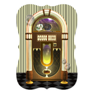 Retro Jukebox Party Invitations