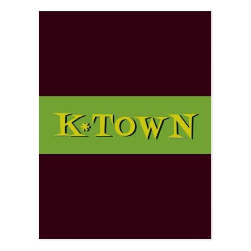 Retro K*Town Avocado Gold Postcard