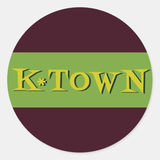 Retro K*Town Avocado Gold Sticker