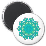 Retro Kaleidoscope Abstract 2 Inch Round Magnet