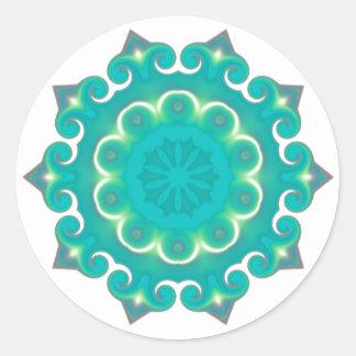 Retro Kaleidoscope Abstract Classic Round Sticker