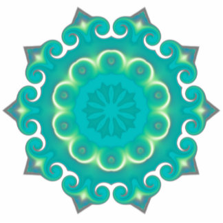 Retro Kaleidoscope Abstract Photo Cut Outs